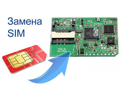 Замена SIM-карты в GSM модуле